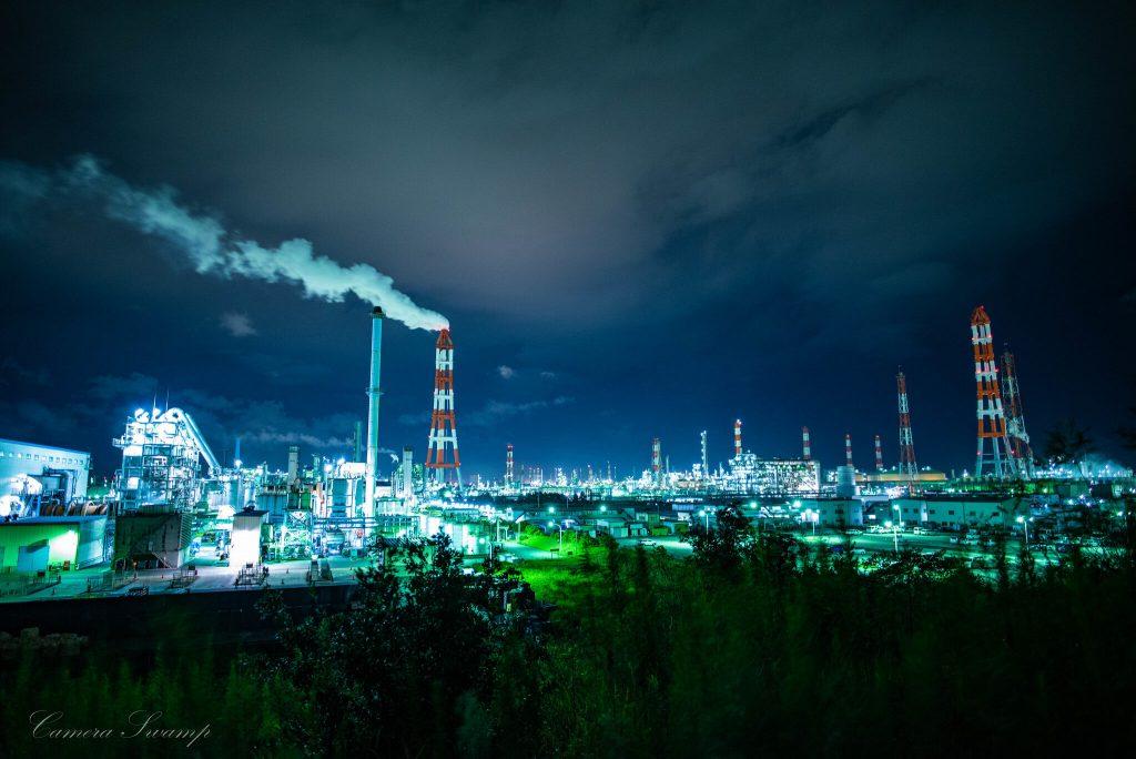 砂山都市緑地 工場夜景